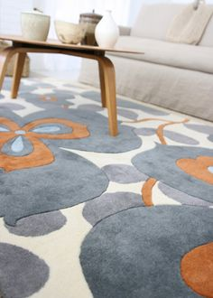 Amy Butler rug , in orange & gray to boot!// oh gosh i LOVE this rug. maybe daph's room?