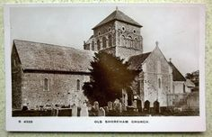 Real Photographic Postcard of Old Shoreham Church Sussex pre 1918 WHS St Nicolas