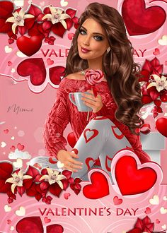 Happy Valentines Day Pictures, Valentines Day Memes, Beautiful Love Pictures, Beautiful Gif, Flirty Good Morning Quotes, Rita Hayward, Holiday Gif, Happy V Day, Angel Images