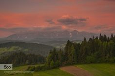 Tatra Mountains by darek_gruszka  Poland clouds forest landscape morning mountains sky sunrise trees Tatra Mountains darek_gruszka