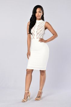 No Boundaries Dress - White