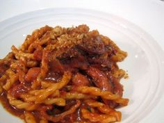 FUSILLI WITH BRAISED OCTOPUS AND BONE MARROW from Marea in New York CIty. This is an amazing dish!