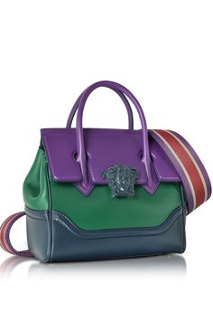 VERSACE Palazzo Empire Color Block Medusa Satchel Bag 1296891692094