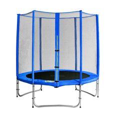 Sixjump 1,85 M Trampoline de jardin bleu -