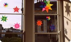 Waldorf window stars.