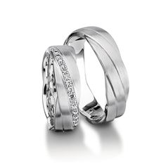 White gold braided band