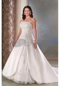 Abiti da Sposa Taglie Forti-Moda abiti da sposa taglie forti casual  luminosi Outdoor Wedding 36750c903d11