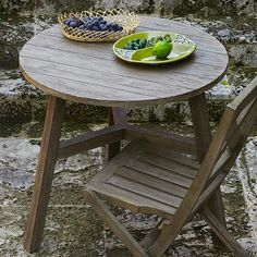 Driftwood Finish Bistro Table #WestElm, perfect for our town home garden patio.
