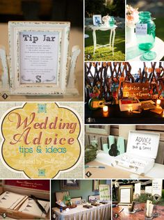 Wedding advice table tips and ideas from Bellenza. How do you want to set your advice table?