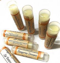TANGERINE DREAMS Lip BUTTER Natural Lip Balm by LittleStuff4u