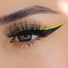 Makeup Eye Looks, Eyeliner Looks, Eye Makeup Art, No Eyeliner Makeup, Cute Makeup, Skin Makeup, Makeup Inspo, Eyeliner Brands, Color Eyeliner