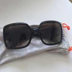 Women's SPY sunglasses Women's SPY sunglasses, black/gold, pleated. so cute! great condition. Spy Accessories Glasses