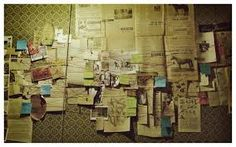 Image result for the name a of a wall with detective photos