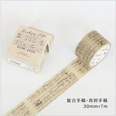 Cheap decorative washi tape, Buy Quality scrapbooking masking tape directly from China washi tape Suppliers: Vintage Chopin Music note Newton laws manuscript decoration washi tape DIY planner scrapbooking masking tape escolar Scrapbook Stickers, Diy Scrapbook, Scrapbooking, Washi Tape Diy, Masking Tape, Washi Tapes, Music Notes Decorations, Music Manuscript, Diary Planner
