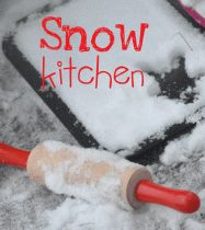 """Sometimes we have to be very creative to get our kids outside in the cold winter snow; My kids love """"cooking"""" in a snow kitchen. Winter Crafts For Kids, Winter Ideas, Winter Fun, Winter Theme, Winter Snow, Winter Outdoor Activities, Snow Activities, Preschool Activities, Outdoor Education"""