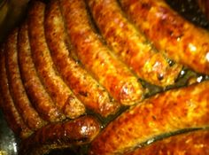 Simple baked Italian sausage.  Perfect for sausage subs or to add to a pot of sauce.