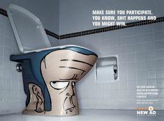 New Ad Media Indoor: Bathroom, 3