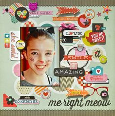 Remember the Good Times: No Kitten, It's Me Right Meow using @Pink Paislee Hey Kid designed by Lisa Swift