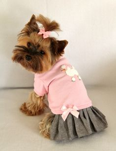 Poodle T Shirt Dress