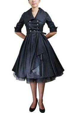 Chic Star Retro Belted Swing Dress