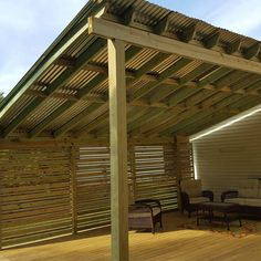 Tin Roof Patio - Imgur Backyard Covered Patios, Backyard Patio Designs, Backyard Pergola, Pergola Designs, Diy Patio, Backyard Landscaping, Gazebo, Patio Ideas, Pergola With Roof