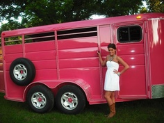 Hmm.. I would love to suprise my husband by painting the stock trailer pink!
