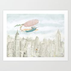 https://society6.com/product/dirigible-over-ny-city_print?curator=bestreeartdesigns. $19.99