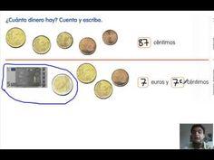Mate, 2º Primaria. Tema 4. Los euros y los céntimos - YouTube