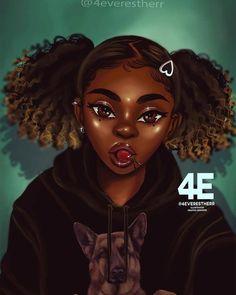 🚨Dm for Paid Promo🚨 🖌✏ 🍒 Baddie with a hoodie 🍒 Black Art Painting, Black Artwork, Black Love Art, Black Girl Art, Drawings Of Black Girls, Arte Black, Black Girl Cartoon, Natural Hair Art, Black Art Pictures