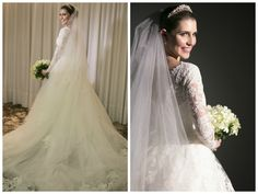 Noiva   Bride   Vestido   Dress   Vestido de noiva   Wedding dress   Bride's dress   Inesquecivel Casamento   Renda   Rendado   Vestido rendado   Véu   Véu de noiva   Grinalda   White dress   Vestido bordado   Bordado   Vestido de manga comprida