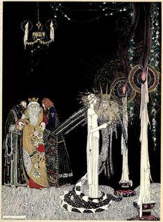"""Kay Nielsen, illustration pour le Conte Populaire Norvegien """"A l'Est du Soleil & a l'Ouest de la Lune"""""""