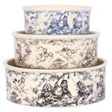 Toile Dog Bowls.  Harry Barker's Exclusive Design is gorgeous and perfect for design conscious dog owners.