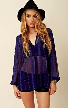 Zoa Long Sleeve Lace Blouse