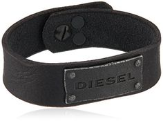 Diesel Mens Leather Cuff Bracelet *** Find out more about the great product at the image link. Mens Leather Cuff Bracelets, Bracelets For Men, Men's Leather, Style Guides, Diesel, Men's Fashion, Image Link, Belt, Purses
