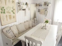 Änglarnas hus - Vintage in romantic style French Cottage Style, Outside Room, Shabby Chic, Next At Home, Kitchen Decor, Kitchen Ideas, Kitchen Inspiration, Kitchen Dining, Home Interior Design