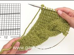 DROPS Knitting Tutorial: How to work the shawl with cable edge in DROPS 172-10, My Crafts and DIY