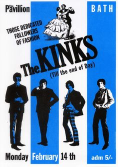 The KINKS - 14 February 1966 Bath -reproduction Poster Size 11.7 ...