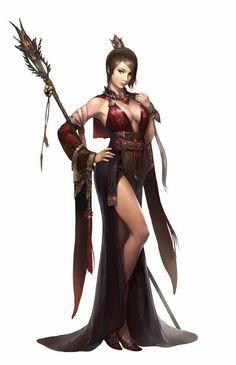 Female Human Sorcerer - Pathfinder PFRPG DND D&D d20 fantasy