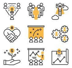 Font Free, Business Icon, Icon Font, Teamwork, Infographic, Presentation, Symbols, Icons, Infographics