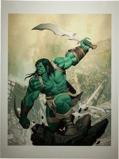 Marvel Skaar Son of Hulk Premium Art Print by Sideshow Colle Lego Marvel, Marvel Comics, Hq Marvel, Marvel Heroes, Marvel Comic Character, Comic Book Characters, Comic Books Art, Hulk Smash, Arte Nerd