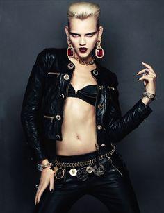 Ohh la la For more great leather fashion finds: Designer Leather Fashions