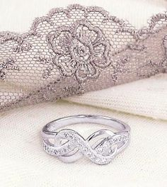 Fancy Infinity Ring in Sterling Silver-Hearts & Love > Forever & Infinity Rings-woot & hammy