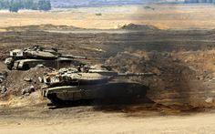 tank merkavah Israel dalam aksi