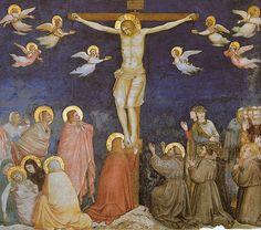 Assisi, Basilica di San Francesco, Unterkirche. Kreuzigung, Fresko von Pietro Lorenzetti (Basilica of St. Francis, Lower Church, Crucifixion)  #TuscanyAgriturismoGiratola
