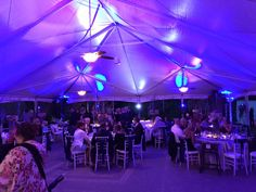 The tent at night!
