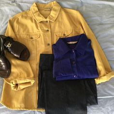 """New ListingChico's Mustard Color Jacket Cool, Comfy and Casual...this Twill Jacket has Fabulous Lines and is a terrific add-on when you are in a pinch! Just throw it over a cotton shirt & pair with your favorite jeans/capris OR dress it up and wear a silky blouse underneath with a pair of nice slacks. Either way, it's a Classic. This is Chico's sizing 3. Measures: 24"""" flat across bust; 26"""" Length (shoulder-hem). NWOT (Item has never been worn) Chico's Jackets & Coats Jean Jackets"""
