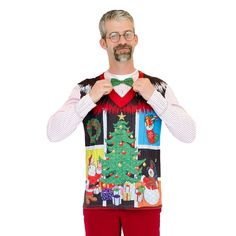 8996f627dbf Faux Real Noel Christmas Vest Tee The Faux Real Ugly Noel Xmas Vest is  festive