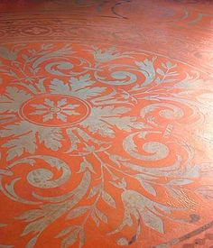 concrete painted like a rug