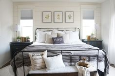 Perfecting the Homefront: Neutral Cottage Master Bedroom