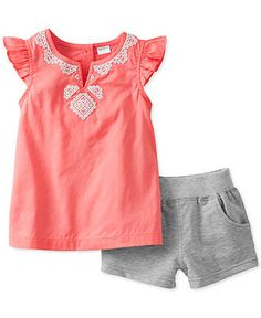 Carter\'s Baby Girls\' 2-Piece Tank & Shorts Set - Kids Newborn Shop - Macy\'s (12 months)
